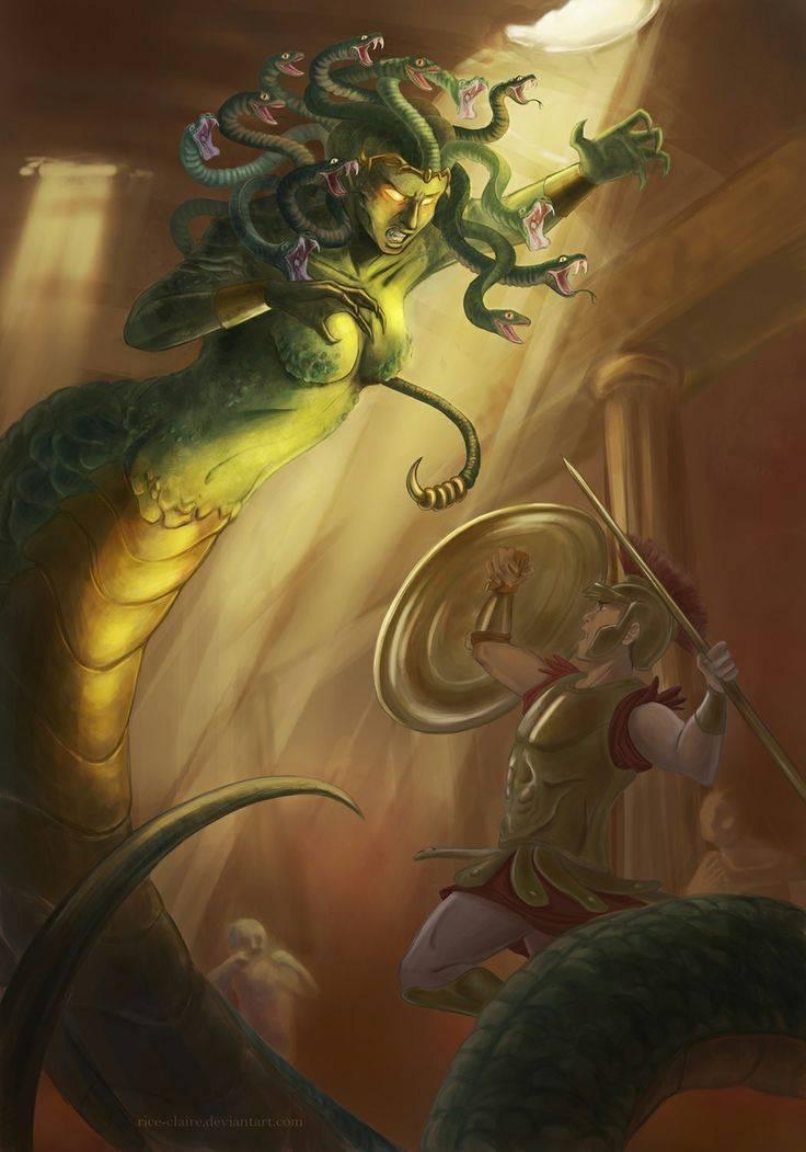 Персей убивает медузу горгону