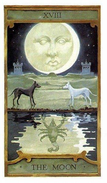 Луна — значение 18 карты таро