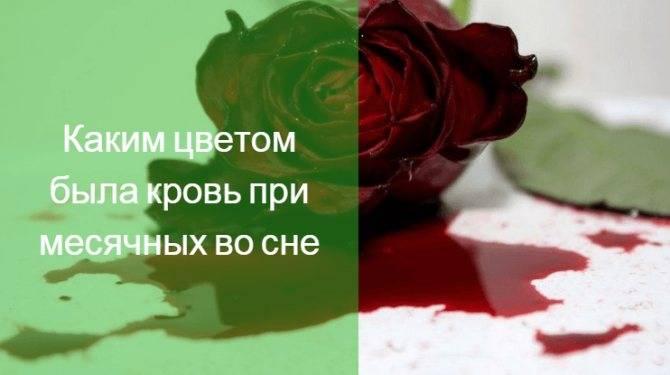 Сонник к чему снится кровь месячные