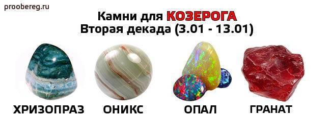 Какие камни подходят козерогам в качестве талисманов?   знаки зодиака