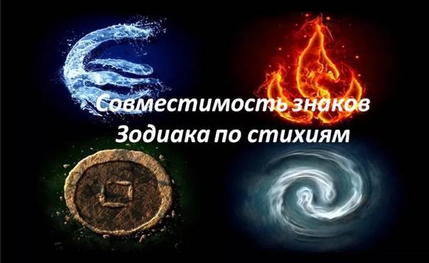 Совместимость по стихиям: с кем совместимы огонь, земля, вода, воздух