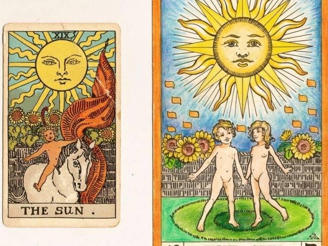 Карта солнце в таро: значение и сочетание