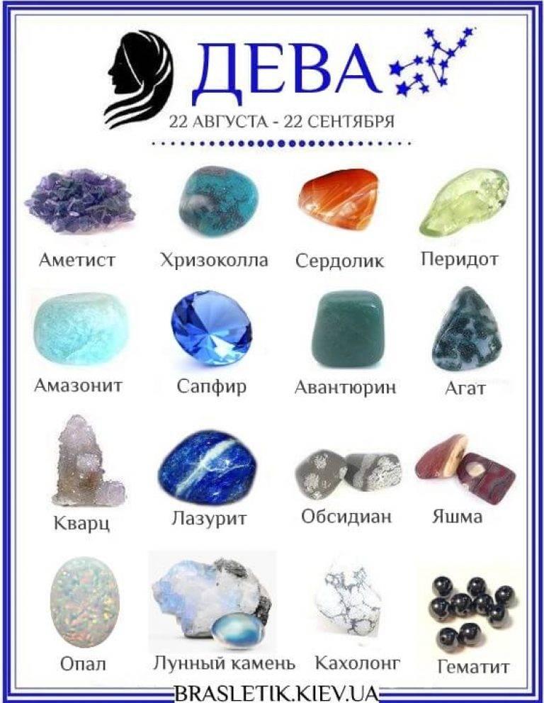 Камни-талисманы для знака зодиака Девы