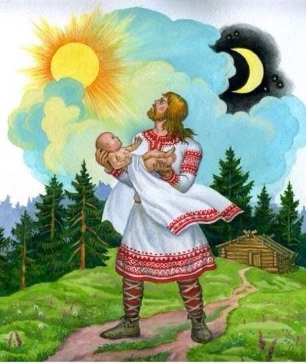 Обряд наречения имени у славян