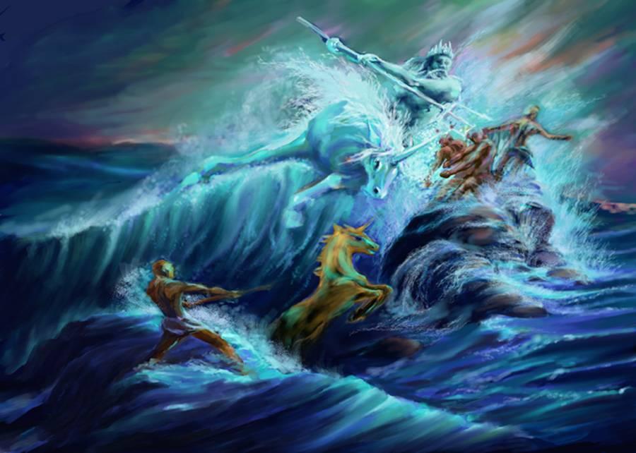 Гиппокампы — морские лошади, творения Посейдона и Афины