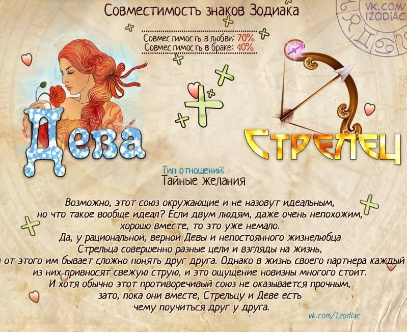 Стрелец : любовный гороскоп на год для мужчин и женщин