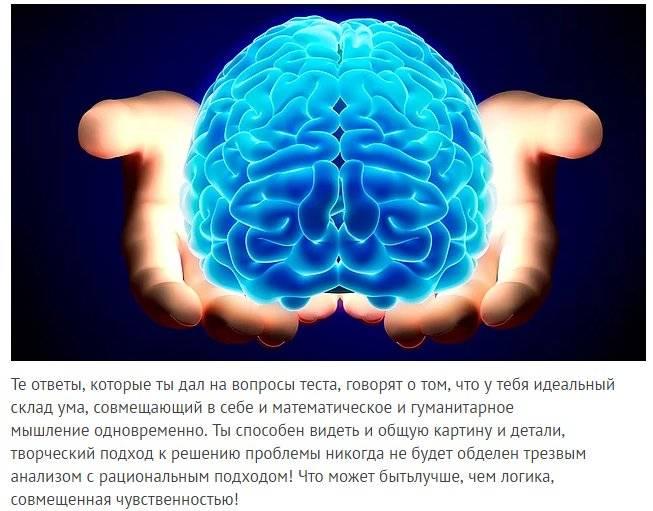 Склад ума – гуманитарный, практический, математический, художественный, синтетический, аутический и универсальный