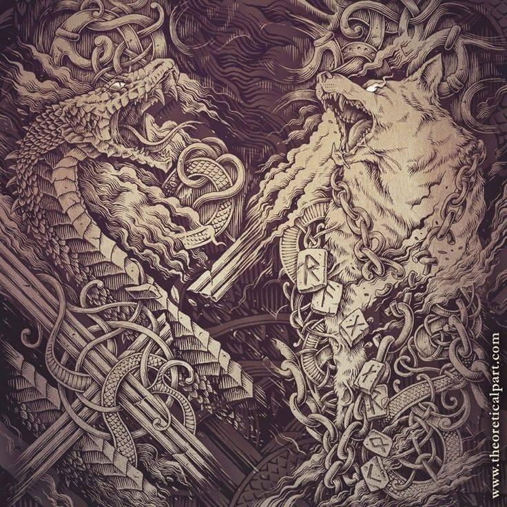 Скандинавские тату - татуировки воинственного народа викингов