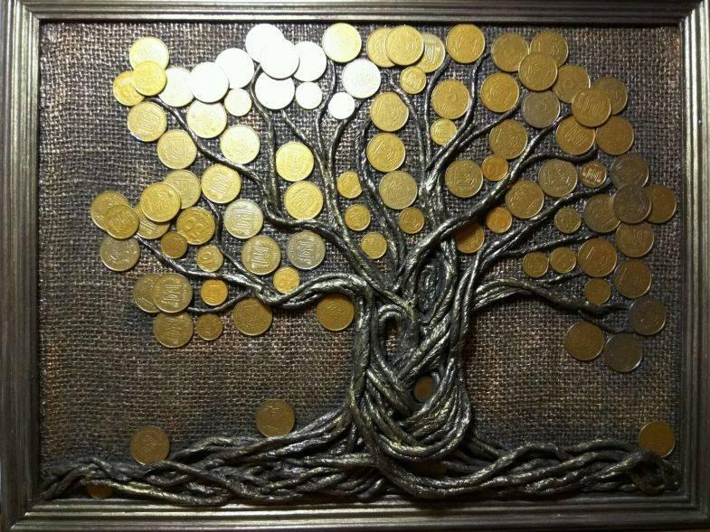 Денежное дерево из бисера и монет — инструменты и материалы, схемы плетения и советы по размещению, красивые фото идеи