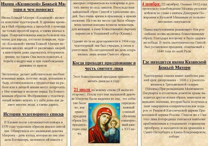 Молитва казанской иконе божьей матери — когда и как читать