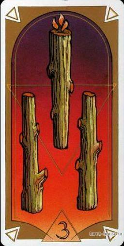 3 (тройка) жезлов в таро уэйта: значение и сочетание карты
