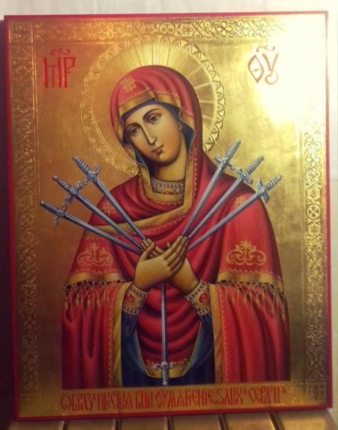 Семистрельная икона божьей матери: в чем помогает и оберегает, куда вешать, правильное размещение в доме, значение