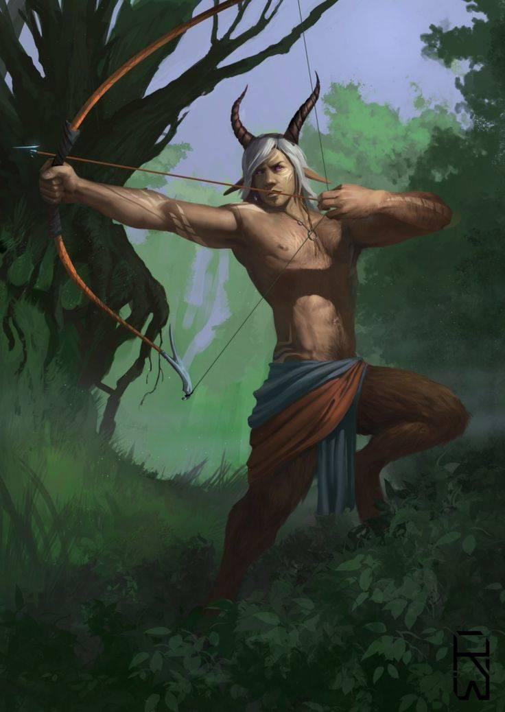 Как называется человек с копытами и рогами мифология