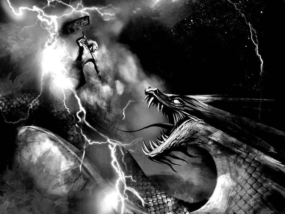 Что сказал мировой змей кратосу при первой встрече