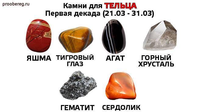 Камни тельца женщины и мужчины: какие подходят, а какие — нет
