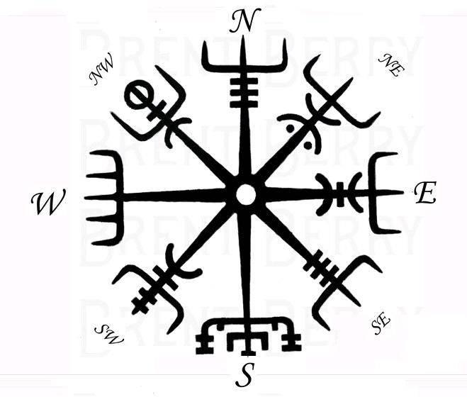Рунический компас вегвизир – указатель верного пути