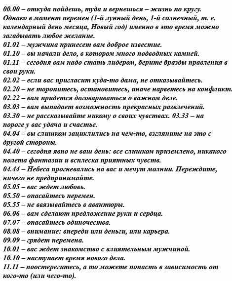 Зеркальные числа на часах: значение в ангельской нумерологии