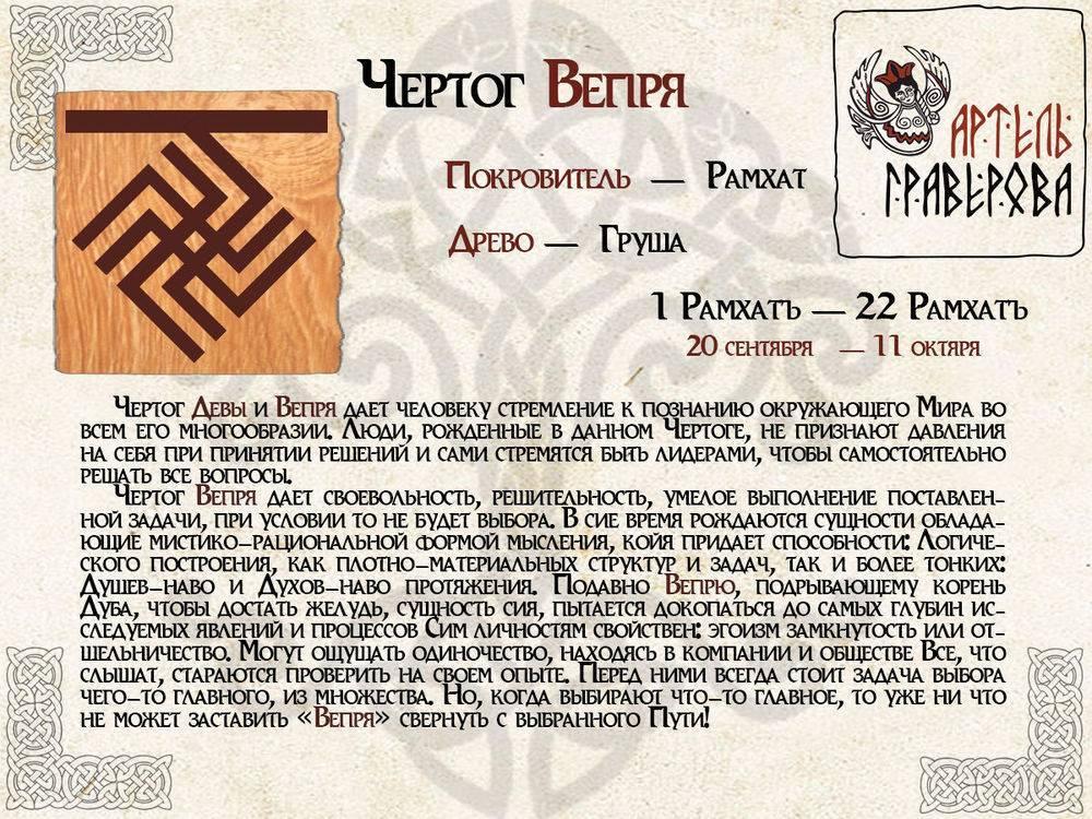 Славянские знаки зодиака: древний русский календарь по годам и по месяцам, характер по дате рождения, и какой бог покровительствует человеку в этот период?
