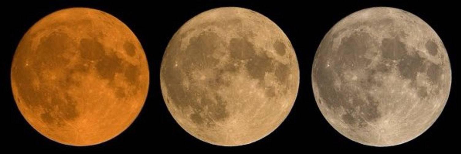 Почему Луна бывает красная