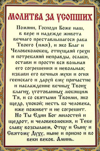 Молитва о новопреставленном: до 9 дней, до 40 дней, после похорон, об упокоении души, пресвятой богородице.