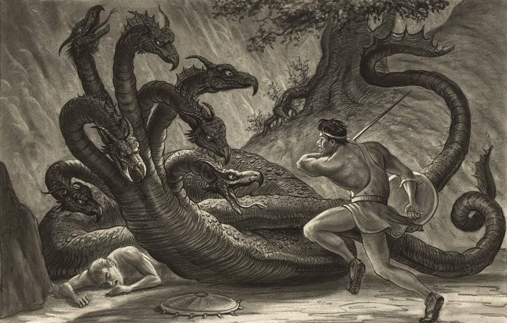 Лернейская гидра (второй подвиг)   подвиги геракла греческой мифологии