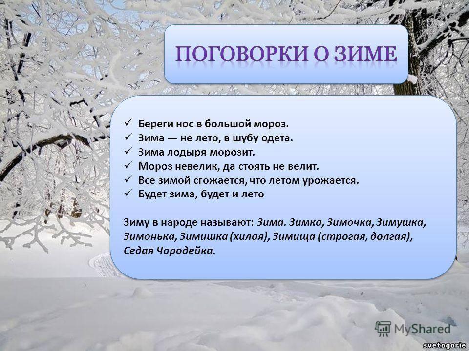 Приметы зимы: о погоде, урожае, полный перечень