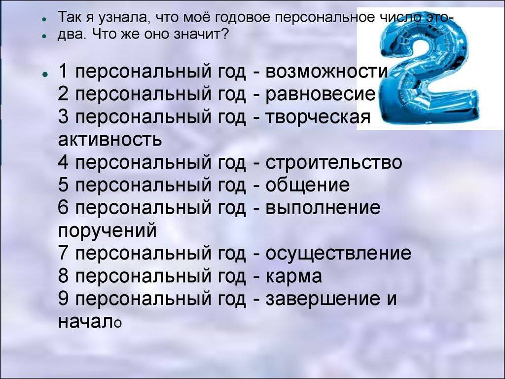 Значение чисел рождения в нумерологии