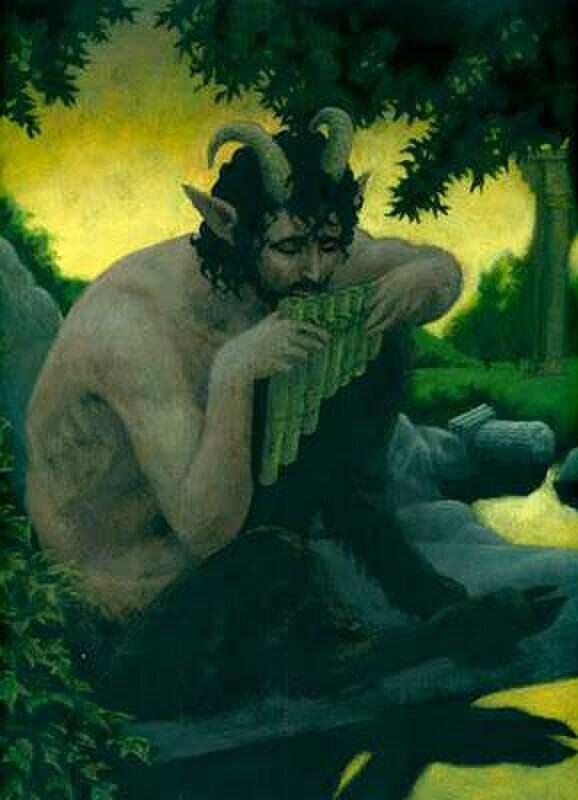Сатиры — рогатые и козлоногие персонажи греческой мифологии (8 фото)