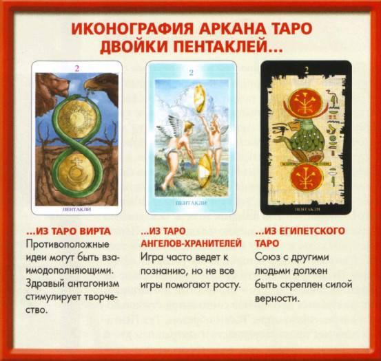 Двойка пентаклей (2 пентаклей): значение карты таро