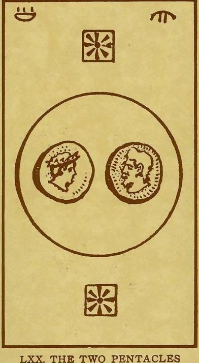 2 пентаклей таро - значение карты в прямом и перевернутом положении