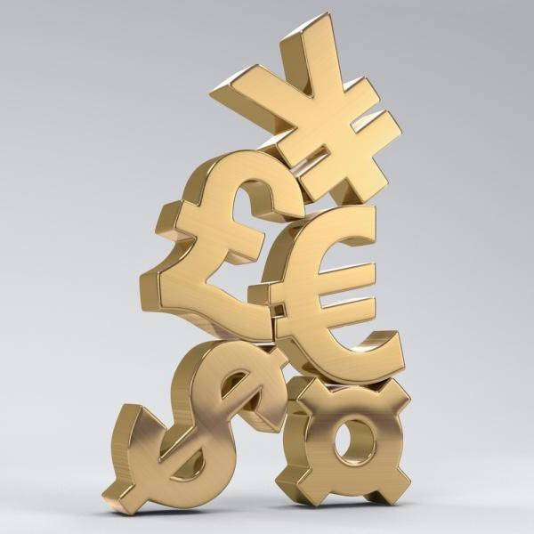 Знаки валют разных стран мира
