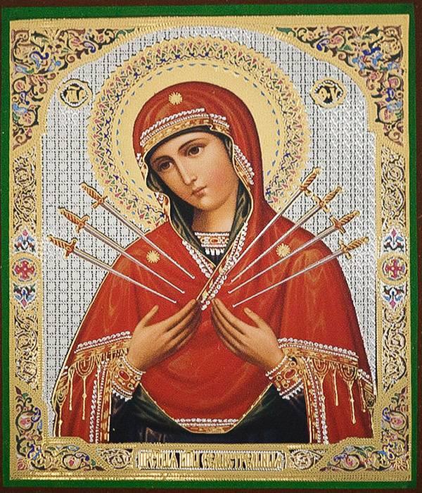 Чудесная икона божией матери семистрельная для спасения злых сердец