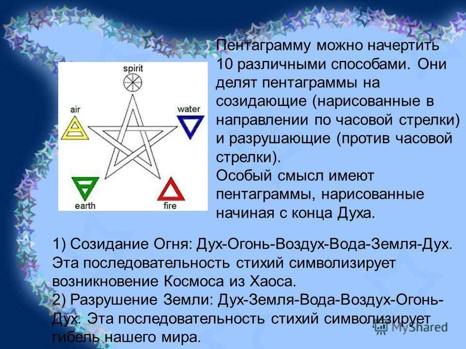 Виды пентаграмм и их значение в истории колдовства | мир магии