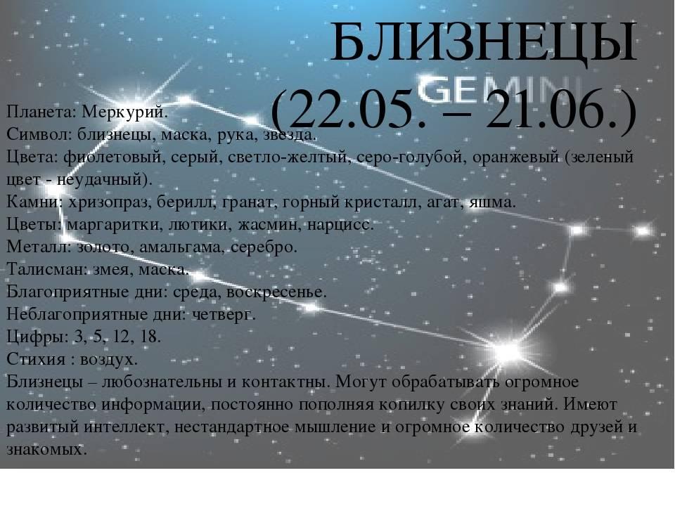 Близнецы - характеристика знака зодиака