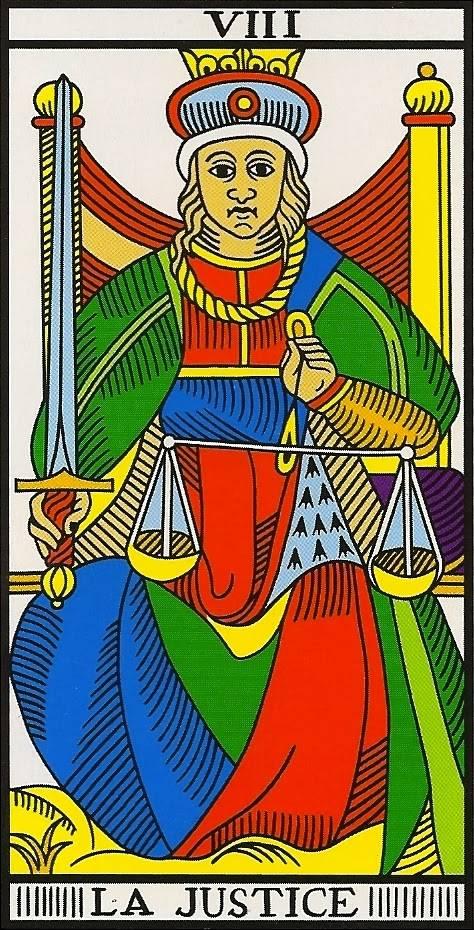 Справедливость таро: сочетание с другими арканами