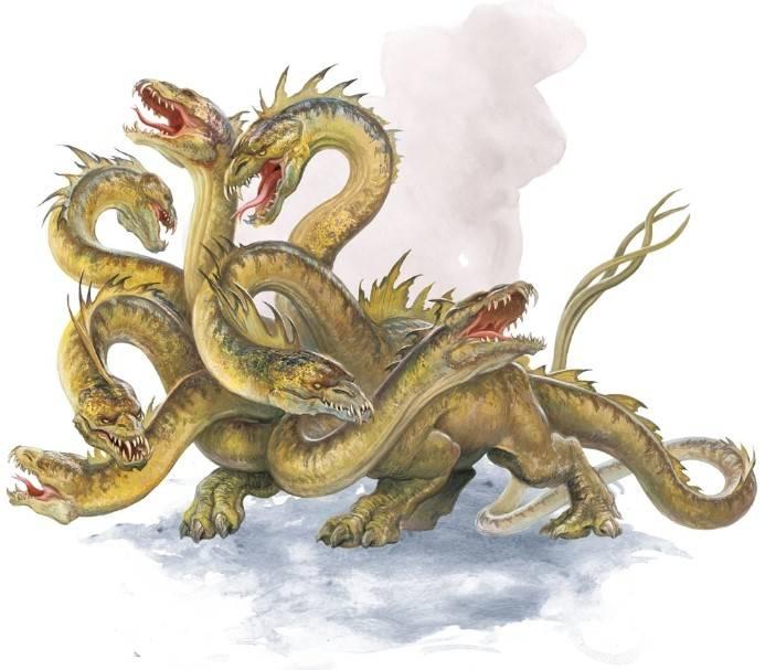Лернейская гидра — персонаж легенд о подвигах геракла
