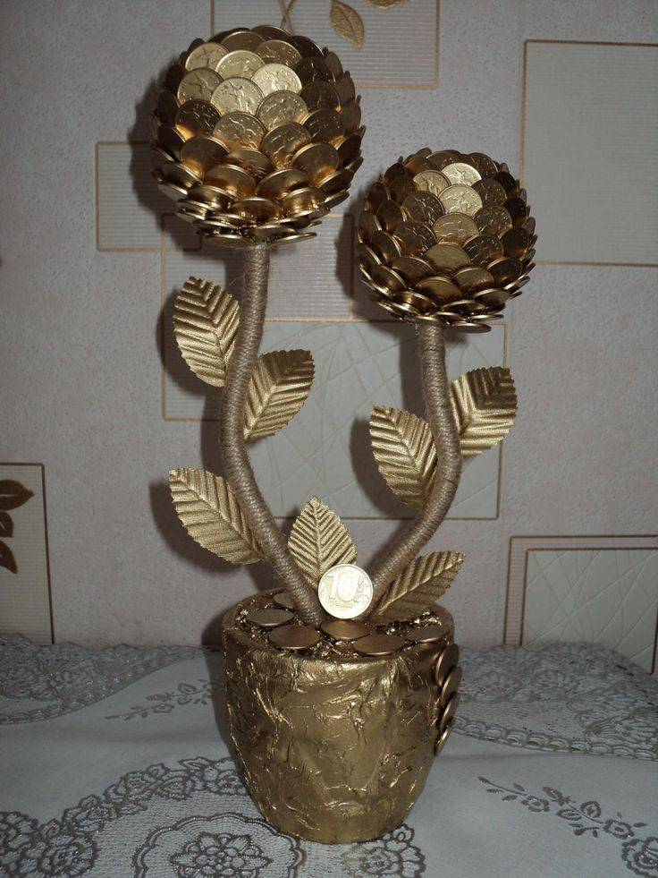 Денежное дерево из монет своими руками, приметы, фото, видео