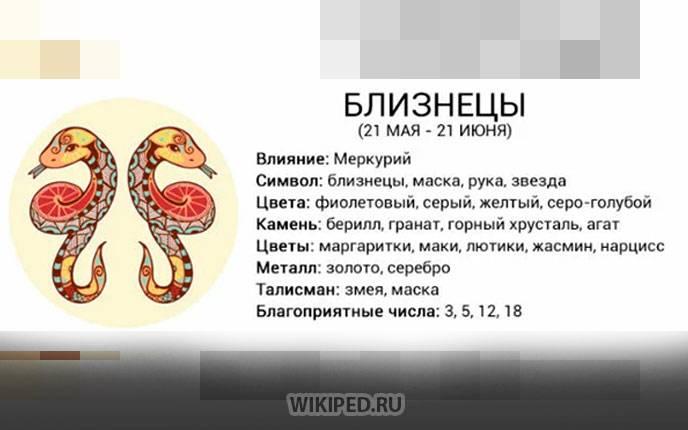 Знак зодиака близнецы (22.05 – 21.06)