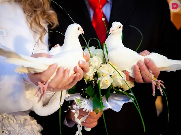 Свадебные приметы до, после и во время бракосочетания